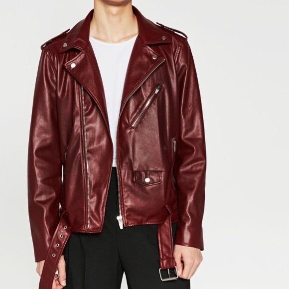Zara Jackets Coats Mens Faux Leather Jacket Poshmark